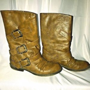 Blowfish Alms Brown Texas PU Pisa Boots Size 8